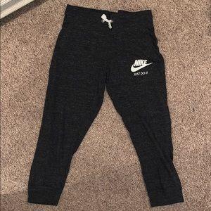 Grayish black nike joggers worn a few times